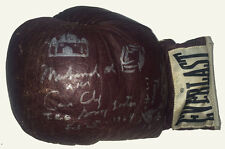Muhammad Ali Signed Cassius Clay boxing glove Inscribed w/ Drawings 1/1 PSA auto