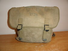 Vtg Olive Canvas WW2 M1936 U.S Army Military FOX MFG CO 1942 Musette Field Pack