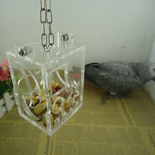 Pet Treat Parrot Bird Cage Feeder Hang Foraging Toys Macaw Cockatoo Budgie New