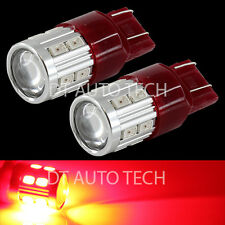 2X 7443/7440 Red Projector CREE+LEDs High Power LED Brake Tail Stop Lights Bulbs