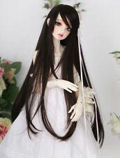 "BJD Doll Hair Wig 6-7"" 1/6 SD DZ DOD LUTS Black Long Straight"