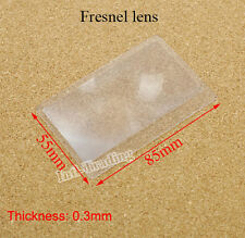 5PCS Portable Credit Card 3 X Magnifier Magnification Magnifying Fresnel LENS