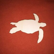 10 x SEA TURTLE  8cm  wooden shape SEASIDE  SEALIFE CRAFT EMBELLISHMENT TAG