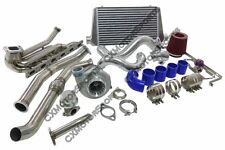 Top Mount GT35 Turbo Kit For 92-98 BMW E36 6 Cyl Manifold Downpipe Intercooler