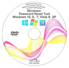 Le finestre di recupero password reset Rimuovi Recover DVD DISC per XP, Vista, 7 e 8