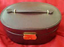 BUDD Leather jewelry box w/ handle and portable case Vintage