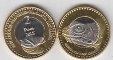SAN ANDRES, PROVIDENCIA, STA CATALINA (COLOMBIA) 2 Pesos 2015 bimetal, iguana