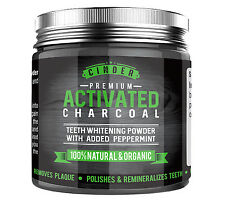 Premium Natural Teeth/Tooth Whitening Powder w/ Activated Charcoal - Peppermint
