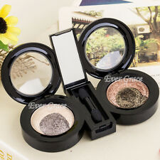 4 Color Nude Warm Baked Eye Shadow Highlight Smoky Mineral Shimmer Eyeshadow Kit