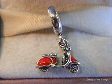 NEW! AUTHENTIC PANDORA CHARM RED SCOOTER TRAVEL #791140EN42   P