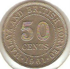 Offer  Malaya QEll  50cents 1961 coin high grade! lustre??