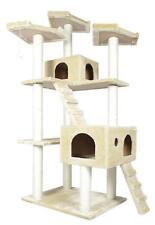 """73"""" Cat Tree Condo Furniture Scratch Post Pet House Beige"""
