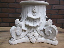 """Antique Turn of the Century Hand Carved Limestone Garden Capital 15"""" by 12"""""""