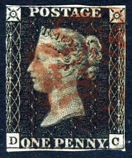 """GB QV PENNY BLACK 1840 Plate 8 DC Red MX """"O"""" Flaw SG 2 (Specialised AS46) VFU"""