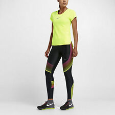 NIKE POWER SPEED RUNNING TRAINING TIGHTS 719784 027 Volt Pink WOMENS SIZE MEDIUM