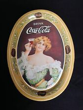 Vintage Coca-Cola Mini Tray Soda Drink 1917 Advertisement Printed Sign 1973