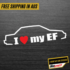 I HEART MY EF 2 JDM CAR STICKER DECAL Drift Turbo Euro Fast Vinyl #0335