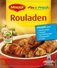 9 x MAGGI FIX and Fresh ROULADEN Sauce fresh from Germany New