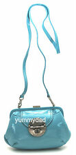 MIMCO HYBRID CLUTCH IN TURQUOISE BLUE PATENT LEATHER  BNWT RRP$199