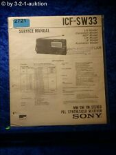 Sony Service Manual ICF SW33 Pll Synthesized Receiver (#2721)