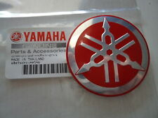 Yamaha Tuning Fork Sticker Decal 55mm YZF R1 R6 YZ FZ1 FZ6 FZS XJR RED/SILVER