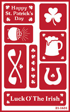 Over n Over reusable Glass Etching Stencil ~ IRISH ASSORTMENT