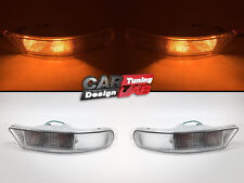 (2) Clear Front Bumper Flasher Light Lamps For SUBARU Impreza RX GC GF 93-98 GC8