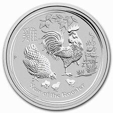 2017 $10 AUSTRALIA LUNAR Series 2 ZODIAC Year of the ROOSTER 10 Oz. SILVER COIN