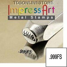 """Metal Design Stamp By Impressart 2mm """".999fs"""" Quality Mark"""