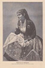 Ungarin Ungarische Tracht Ungarn Tisza HOLZSTICH von 1884 Theiß-Kultur