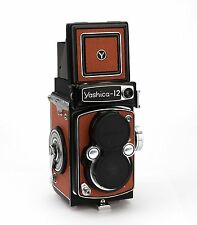 Yashica 12 Replacement Cover, Laser Cut - Genuine Leather - Grainy
