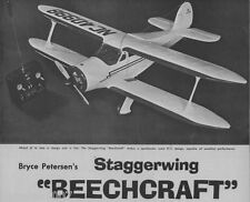 "Model Airplane Plans (RC): STAGGERWING BEECHCRAFT Near-Scale 53"" Wingspan"