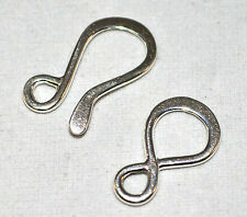 Large Hook & Eye Clasps .925 Sterling Silver Jewlery Findings Beading Craft 1Set