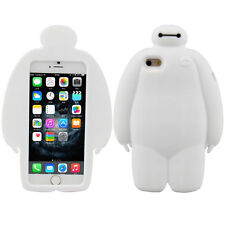 """3D Big Hero-6 White Baymax Silicone Cover Case For Apple iPhone 6 6S 4.7"""""""