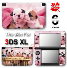 Bull Dog Puppy Pink SKIN VINYL STICKER DECAL COVER for Nintendo 3DS XL