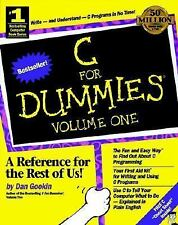 C for Dummies Vol. I Gookin Bestselling Computer Book Series Fun Easy New