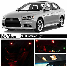 Red LED Lights Interior Package 2007-2015 Mitsubishi Lancer Evolution X