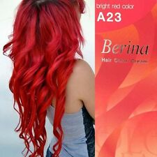 Berina A23 Bright Red Color Hair Cream Color Permanant Super Hair Dye.
