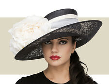 NWT AUTH PHILIP TREACY LARGE UPTURN SPRING SUMMER 2015 KENTUCKY DERBY HAT