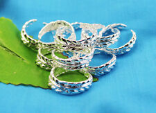 wholesale lots 10PC 925sterling solid Silver leaves Design toe rings Adjustable