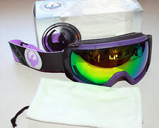 DRAGON ROGUE SNOW GOGGLE LUCKY T's PURPLE FRAME/GREEN IONIZED LENS NIB