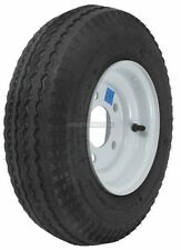 "2-Pack Mounted Trailer Wheel & Tire #410 480-8 4.80-8 4.80x8"" LRB 5 Hole White"