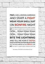 Arctic Monkeys - Don't Sit Down 'Cause I've Moved.. - Song Lyric Art Poster - A4