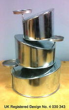 "Topsy Turvy 3 Tier Round Cake Pans Tins New Design By EuroTins 6"" 8"" 10"""