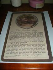 """The Golden Age"" #12 Lardent Card Divine Plan of the Ages Watchtower Russell"