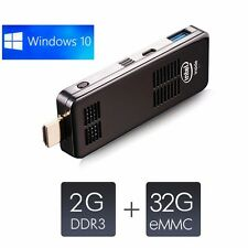 Portable Mini PC Windows 10 Dual OS Quad Core TV Box HDMI 2GB/32GB Bluetooth 4.0