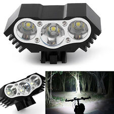7500 Lumen 3X CREE T6 LED Bicycle Bike Front Light Lamp Headlight Headlamp Torch