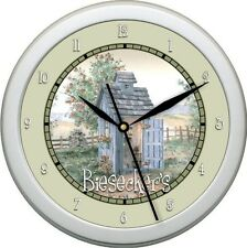 "Personalized Garden Bathroom 10.75"" Wall Clock Gift"