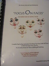 FOCUS ON FACES comprehensive BOOK~BARB KEELING~60+ faces for cloth art dolls
