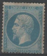 """FRANCE  STAMP TIMBRE N° 22 """" NAPOLEON III 20c BLEU 1862 """" NEUF (x) A VOIR  M997"""